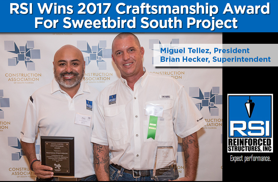 RSI Wins 2017 Craftsmanship Award