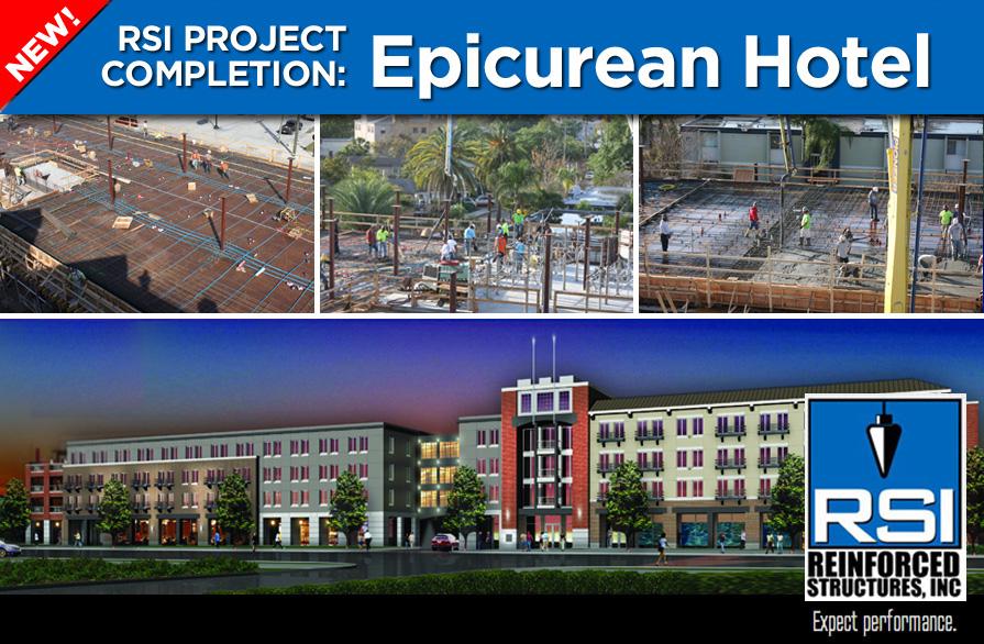 Prestigious New Epicurean Hotel: RSI Concrete Complete