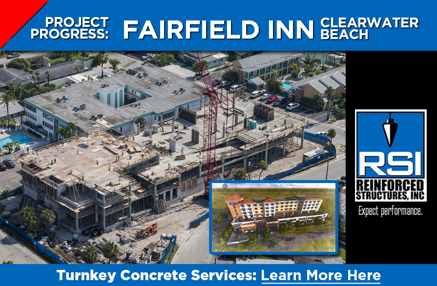 RSI Project Near Completion: Fairfield Inn, Clearwater Beach