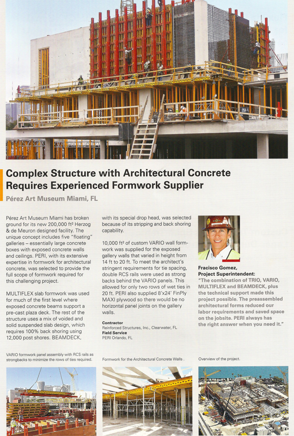 Complex Structure with Architectural Concrete requires Experienced Framework Supplier