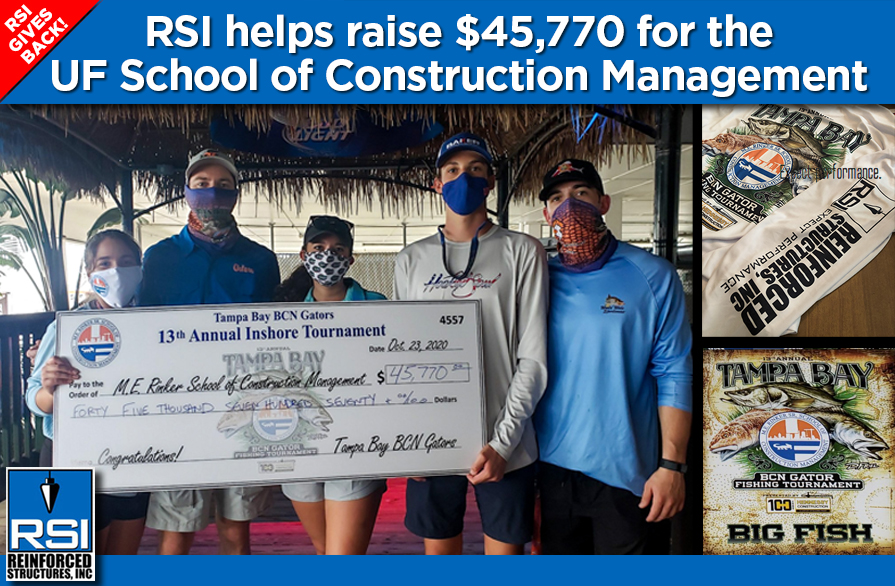 RSI Gives Back: RSI helps raise $45,770 for the UF School of Construction Management