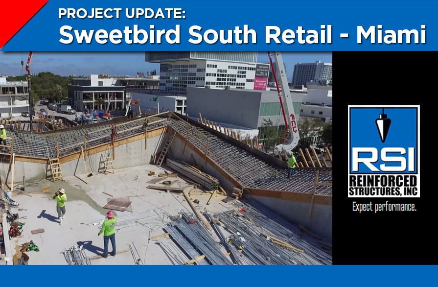 Aerial View and Video of Sweetbird Roof Pour