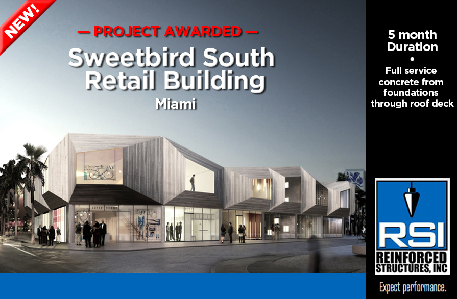 RSI awarded Sweetbird South Retail Building