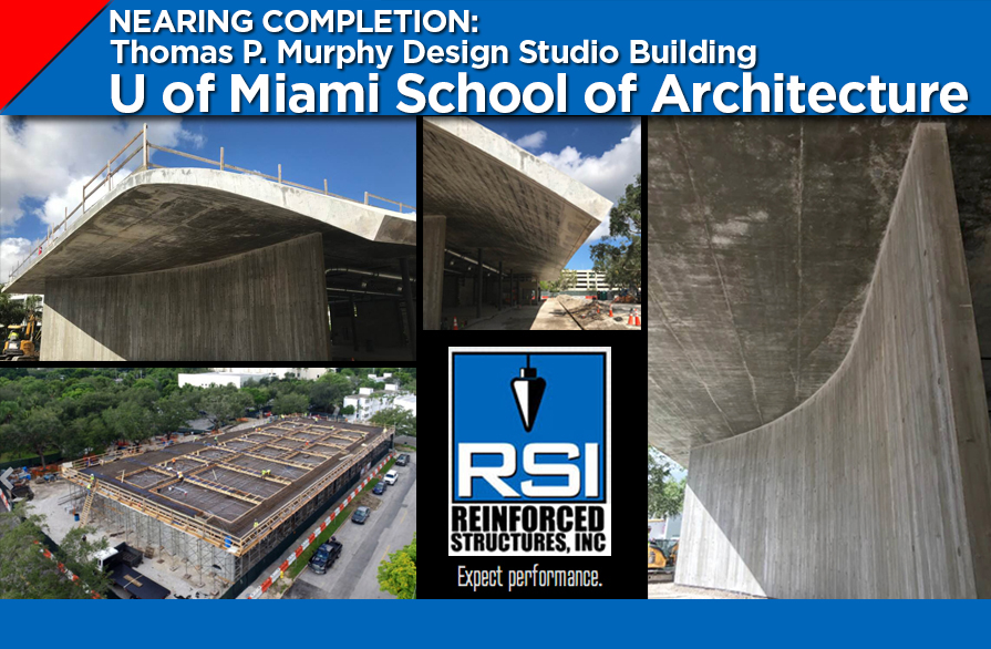RSI Nears Completion of the Concrete Work on the Thomas P. Murphy Design Studio Building